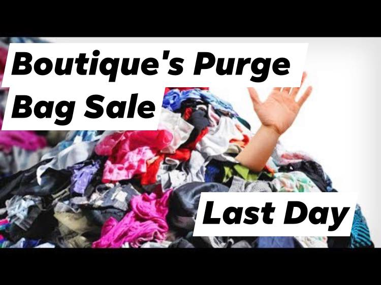 Boutique's Purge Bag Sale