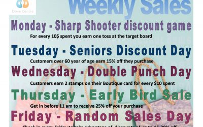 Weekly Sales at the Bargain Boutique